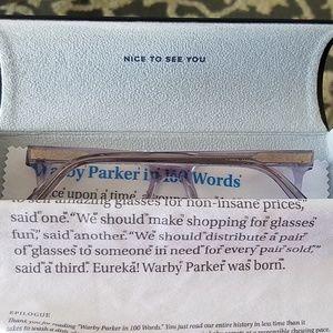 Warby Parker Hughes 49-17-140 Smoky Quartz Crystal